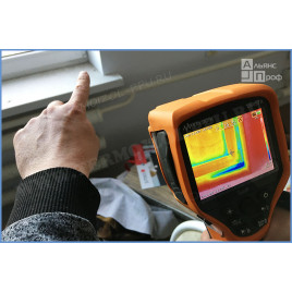 Термографическое обследование тепловизором с аэродверью BlowDoor